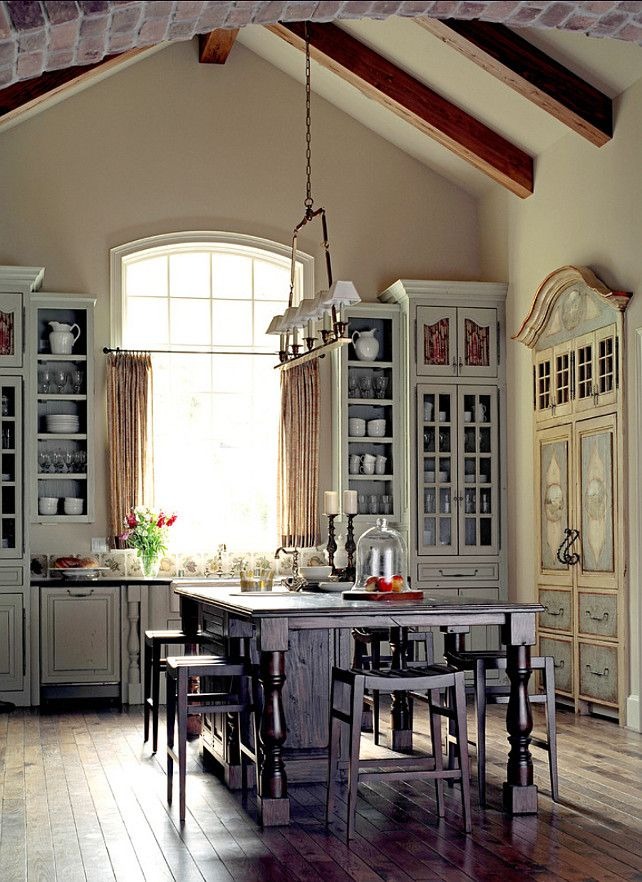 This Arched Window Often Referred As A Round Top Window Gives Any Room A Timeless Classic Look Because The French House French Style Homes Cottage Kitchens