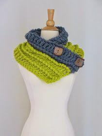 Crochet Dreamz: Diana Buttoned Cowl,Free Chunky Cowl Crochet Pattern