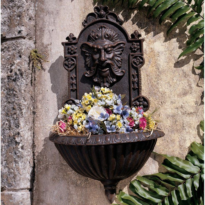 Design toscano greenman sculptural garden wall font sp1285 · garden wallsgarden artoutdoor