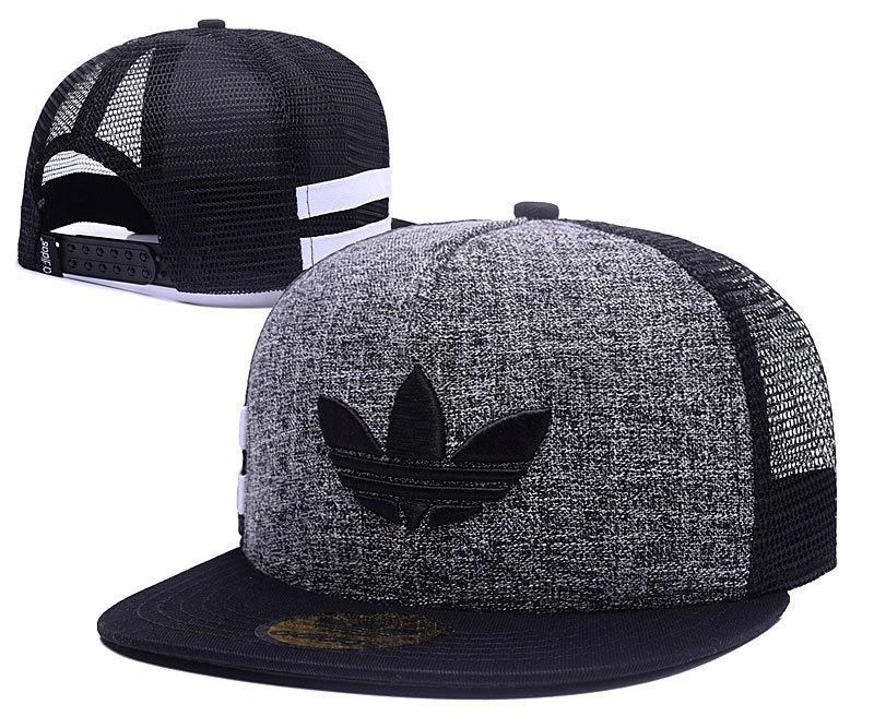 3d65cdeb1bf Men s Adidas Originals Clover 3D Embroidery Logo Customized Pattern Mesh  Back Trucker Snapback Hat - Grey   Black   Black