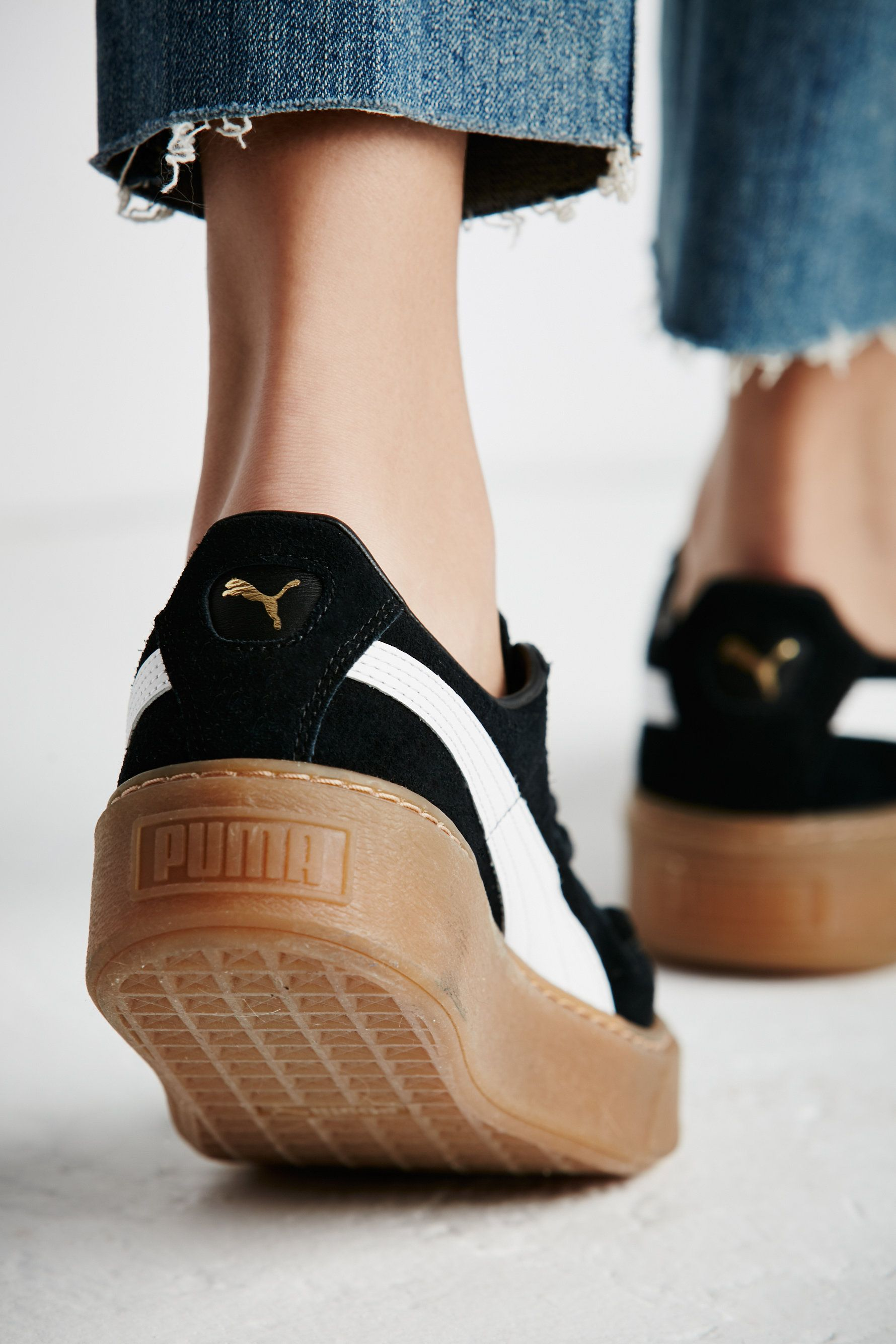 fd5595a2ee Suede Platform Core Sneakers | In a classic puma silhouette these casual  suede sneaks feature a contrasting rubber sole. Lace-ups with a rounded toe.