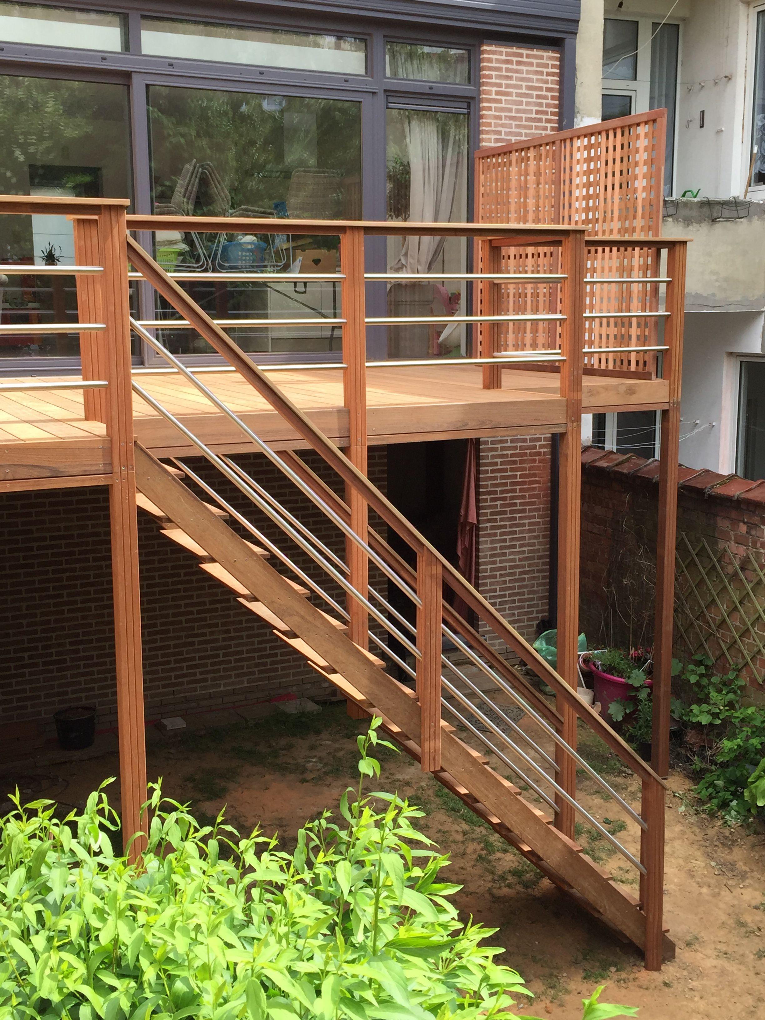 terrasses suspendues les sens du bois am nagement jardin pinterest balkon wintergarten. Black Bedroom Furniture Sets. Home Design Ideas