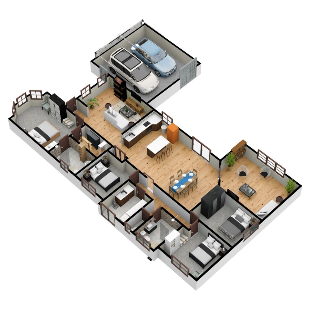 Dollhouse View Of A Project Made On Floorplanner Com Floor Plans Apartment Layout Create Floor Plan