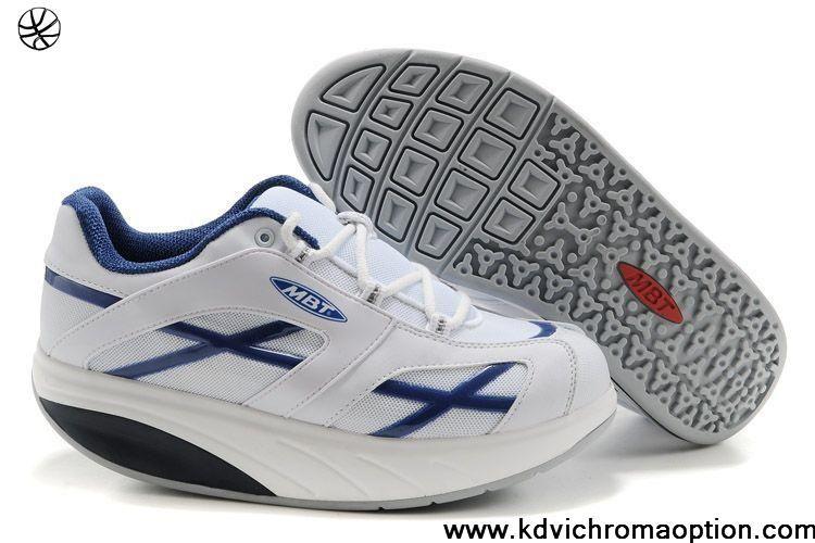 Men MBT M.Walk Shoes Blue Cross White Latest Now