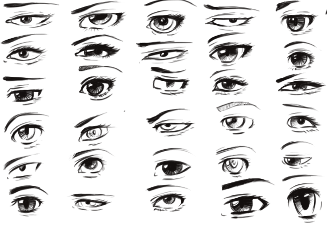 How To Draw Female Eyes Step By Step Anime Eyes Anime Eyebrows How To Draw Anime Eyes