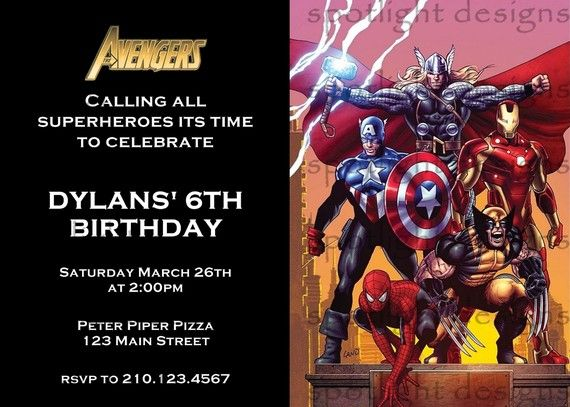 Avengers Invitation 2spiderman Iron Man By Spotlightstardesigns Iron Man Party Avenger Birthday Party Thor Birthday