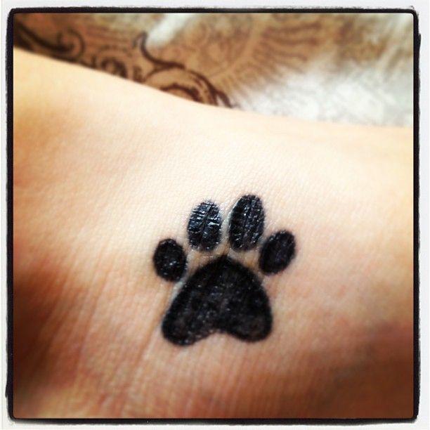 Simple Black Dog Paw Tattoo Design Cool Tattoo Designs Cool Tattoos Insane Tattoos Paw Tattoo
