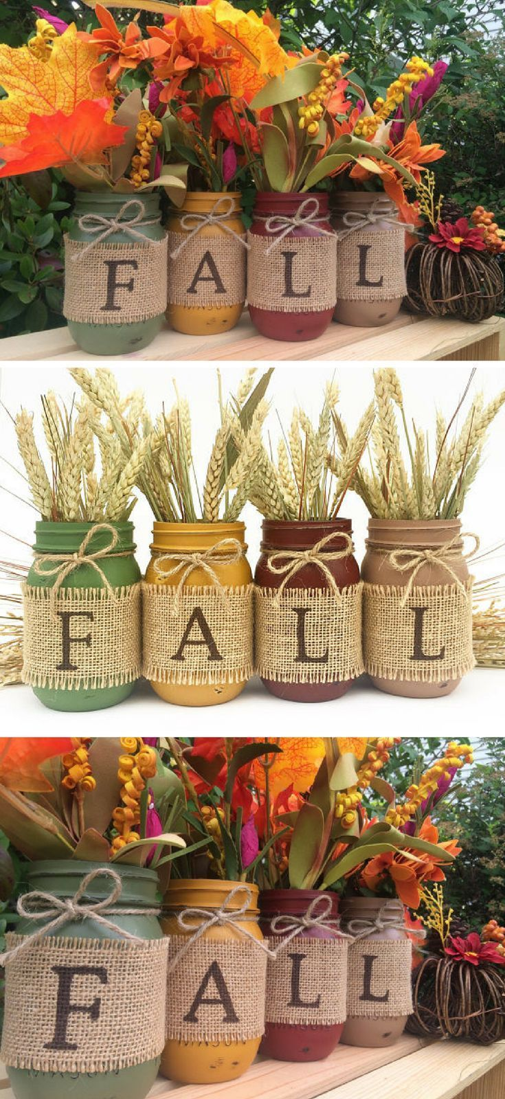 Fall mason jars autumn home decor fall decor thanksgiving