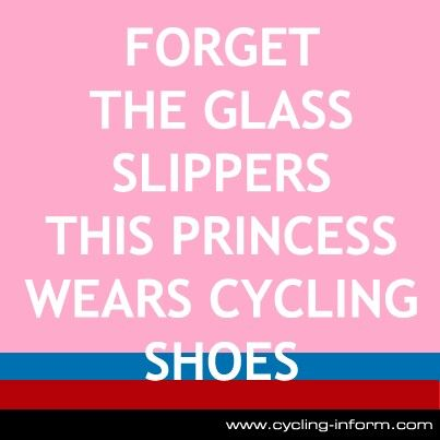 I am a princess WITH cycling shoes ! J-Po
