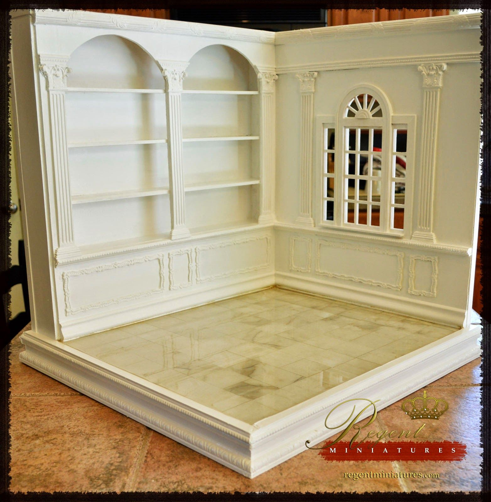 Regent Miniatures: 1:6 Scale Room Box With Library Coming