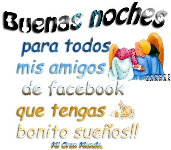 Buenas Noches Para Todos Mis Amigos De Facebook Postales