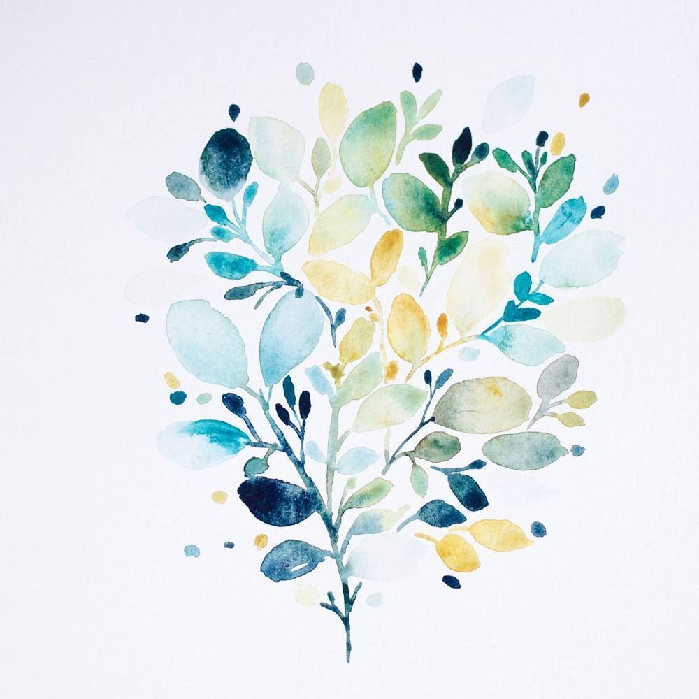 Tribulationsdemarie Botanical Watercolour Lettrage Aquarelle
