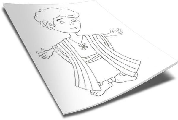 Joseph Coat Of Many Colors Coloring Page Bible Coloring Pages Coat Of Many Colors Bible Coloring