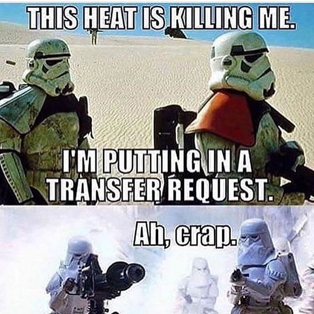 Hot Or Cold What Is Your Preference Bobathehutt Star Wars Geek Funny Star Wars Memes Star Wars Humor