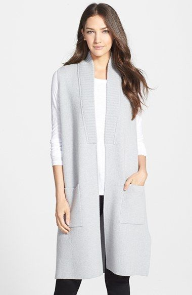 Long Cashmere Sweater Vest | Sleeveless coat, Nordstrom and Long vests