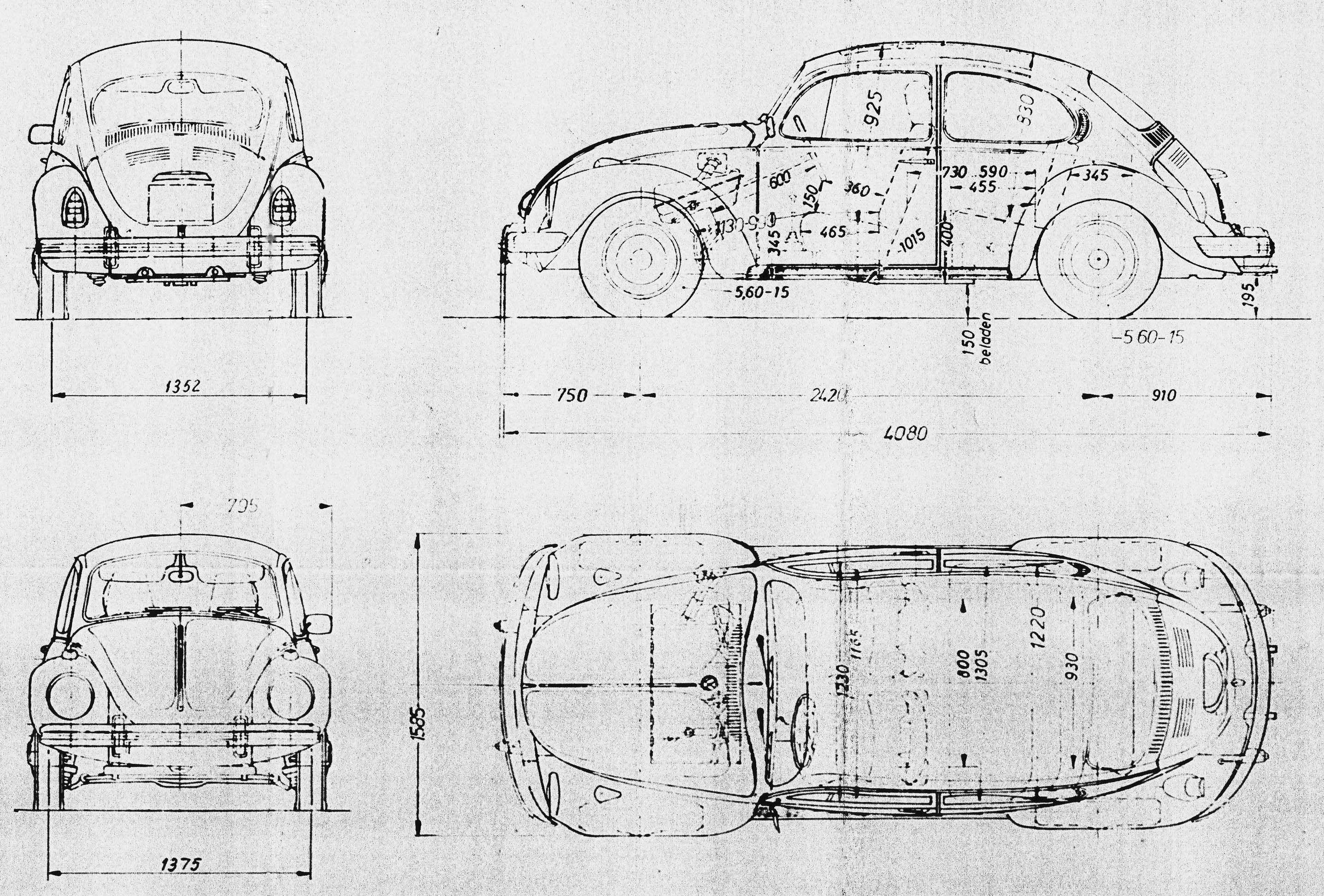Engine Part Diagram 1600cc 1971 Vw
