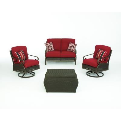 Martha Stewart Living Cedar Island 4 Piece Seating Set D4035