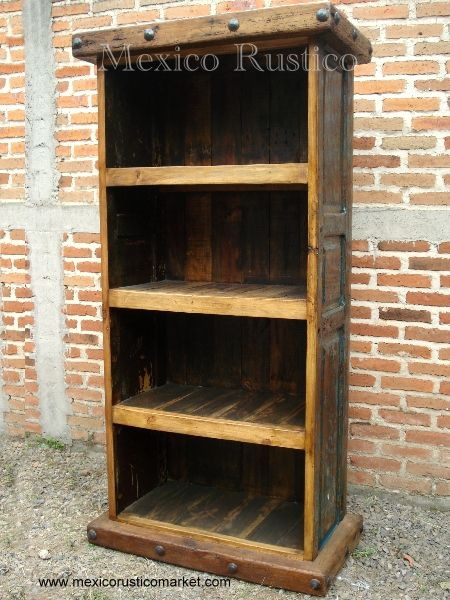 rustic bookshelf old wood mexico rustico - Rustic Bookshelf Old Wood Mexico Rustico Furniture Pinterest