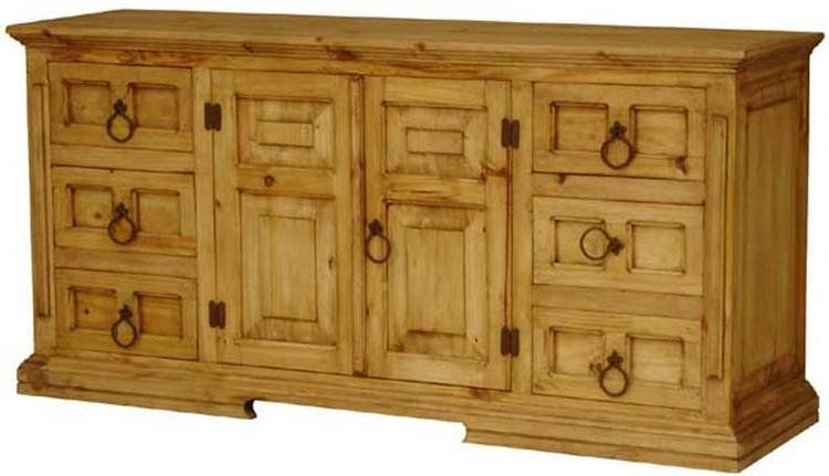 Santa Fe Rustic Pine Dresser