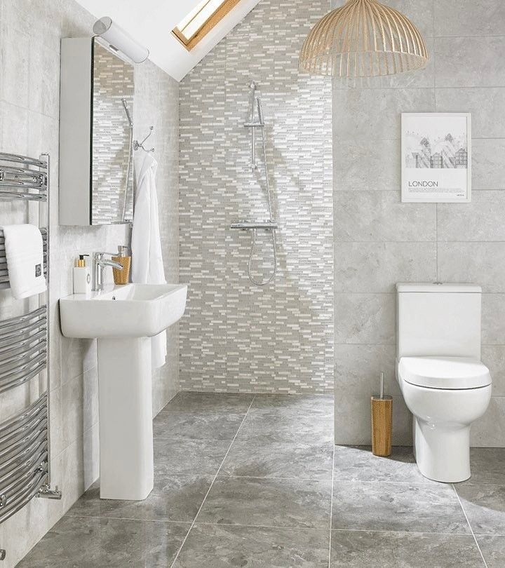 Elegance White Gloss Marble Effect Ceramic Floor Tile: Mix And Match Tiles To Suit Your Style. #countytileswales