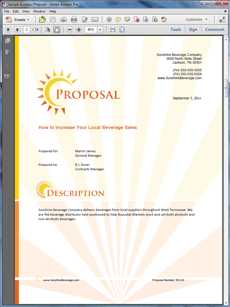 The Beverage Distributor Product Sales Sample Proposal Is One Of Many  Sample Business Proposals Included With Proposal Pack Proposal Templates  And Proposal ...  Product Sales Proposal Template