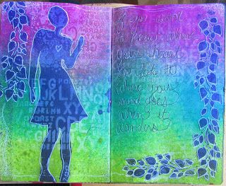 The Scrappy Chick: First pages in my Dylusions Small Creative Journal
