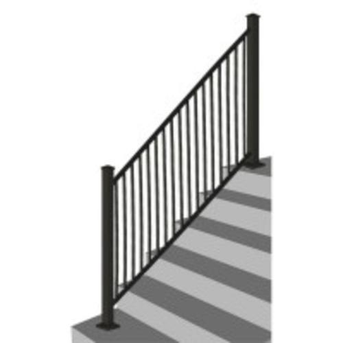 Designer S Image 72 W X 34 H Black Stair Rail Panel Stair Railing Steel Stairs Steel Railing