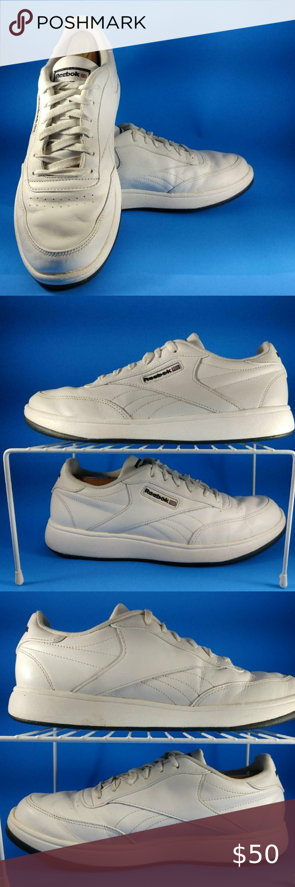 Reebok White Classic Ace Mens Shoes 10