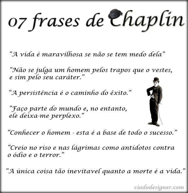 Frases Frases De Charles Chaplin Pensamentos Frases Frases De