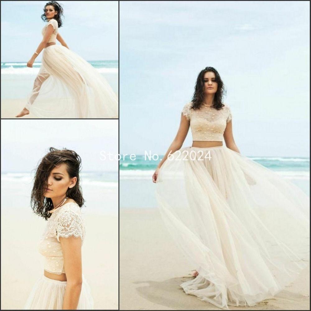 Two Piece Wedding Dress In Aliexpress Buy 2015 Two Piece Wedding ...