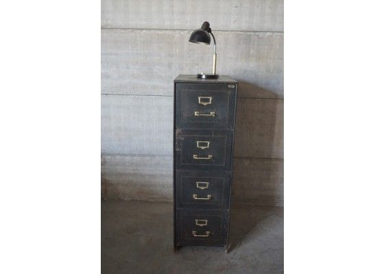 Vintage Industrial Filing Cabinet from Scholz - PAMONO