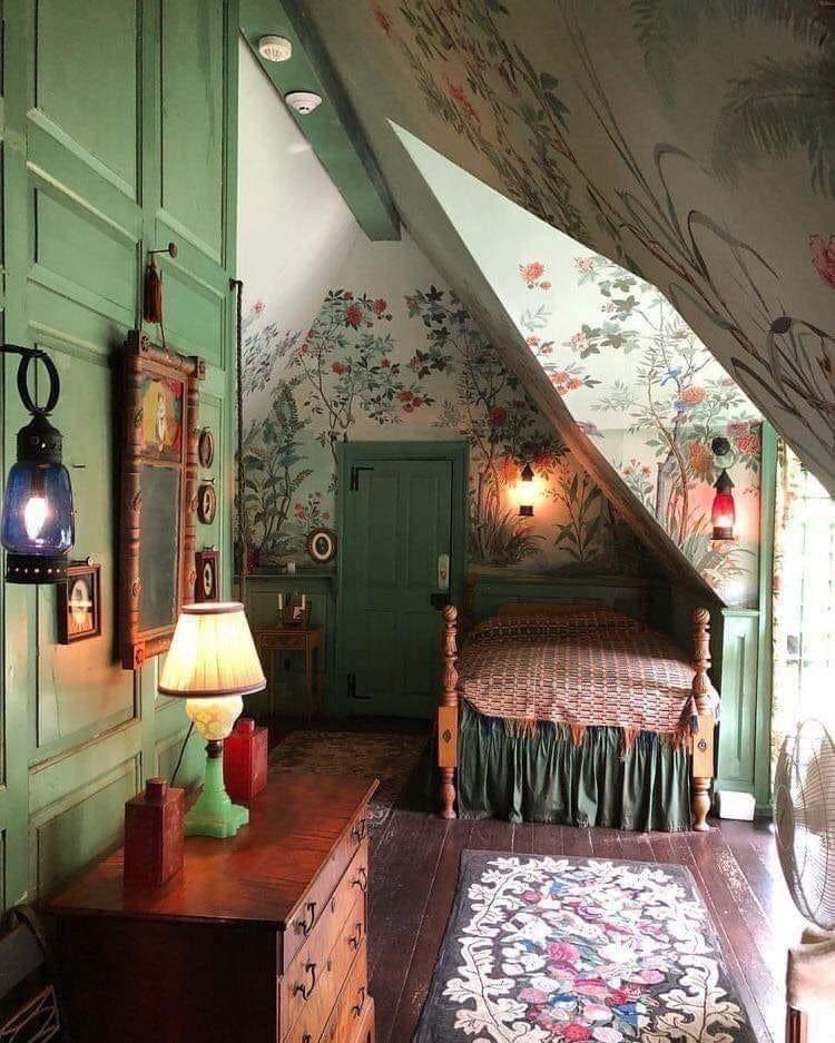 Pin By Angela Kindel On Decorating Bedroom Decor Design Bedroom Vintage Cozy Attic Bedroom Victorian cottage bedroom ideas 1000