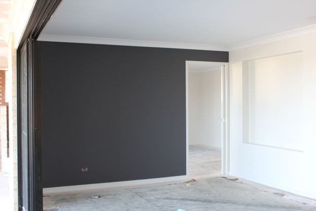 Dulux Leadman Feature Wall Home Ideas Charcoal Walls House