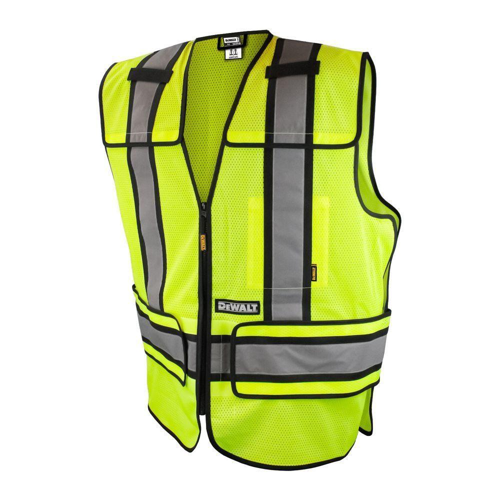 DEWALT XLarge/3XLarge High Visibility Green Adjustable