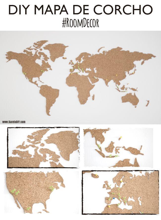 M s de 25 ideas incre bles sobre corcho mapamundi en pinterest mapa del corcho mapa de corcho - Mapa de corcho ...