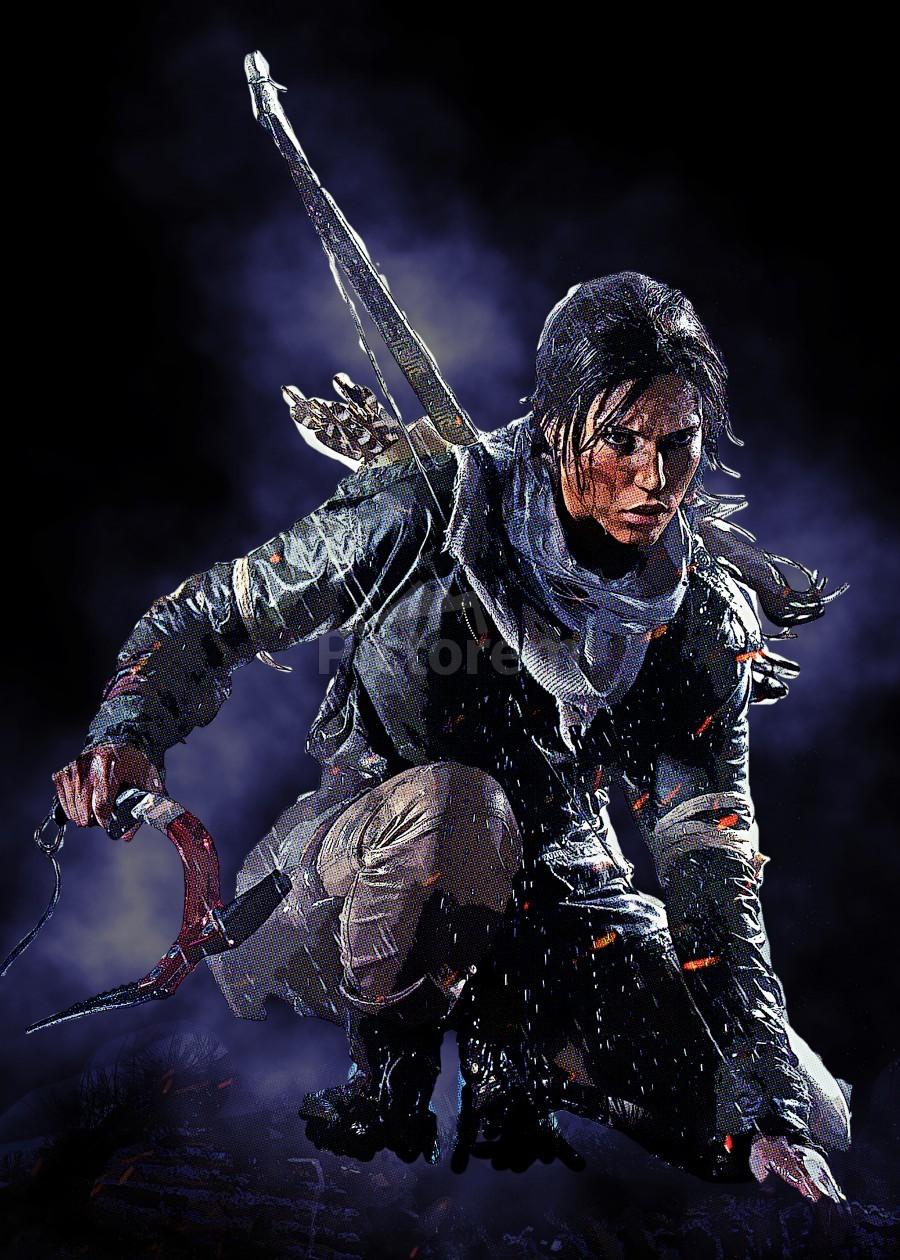 Rise Of The Tomb Raider Cold Darkness Awakened Gunawan Rb Canvas Artwork Tomb Raider Rise Of The Tomb Canvas Artwork