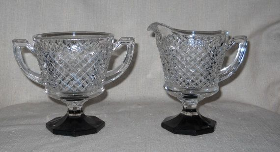 Westmoreland 555 Line English Hobnail Sugar by LovesVintageFinds