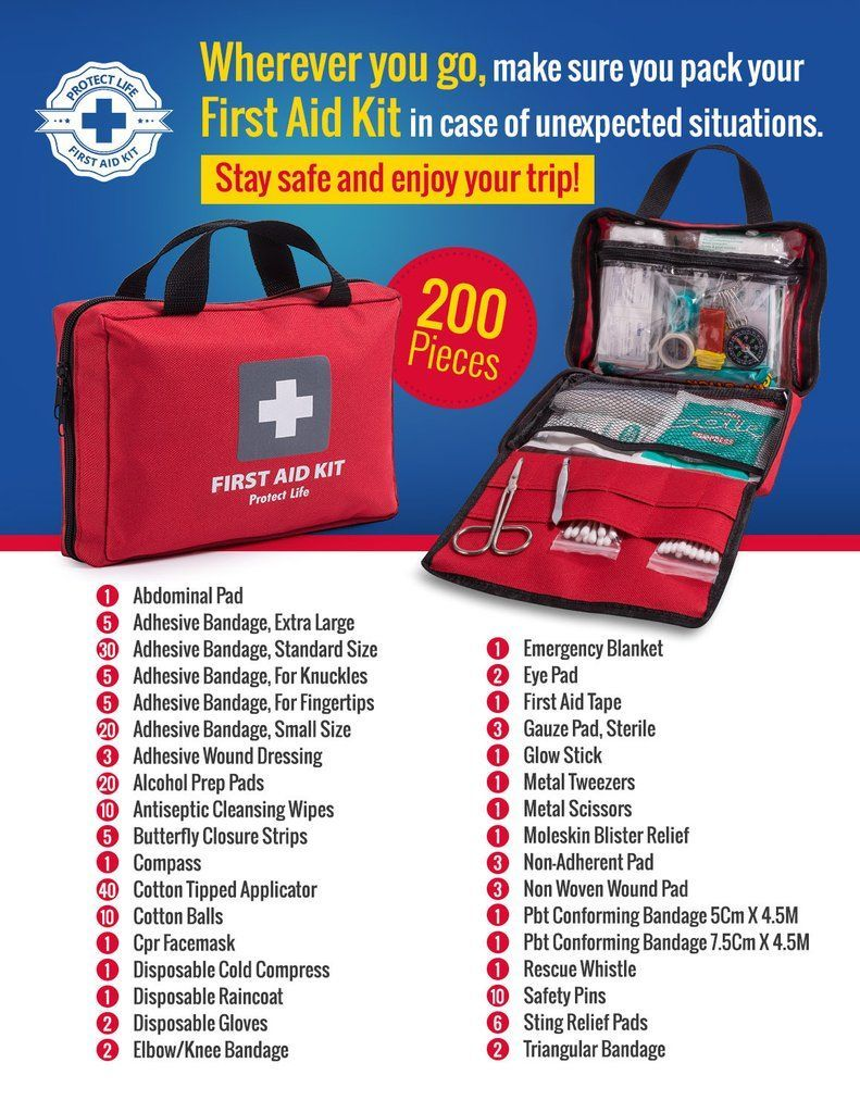 American Red Cross First Aid Kit 200 Pieces Best For Car Travel Workplace Emergency And Home First Aid Kit First Aid Kit Supplies Emergency First Aid Kit