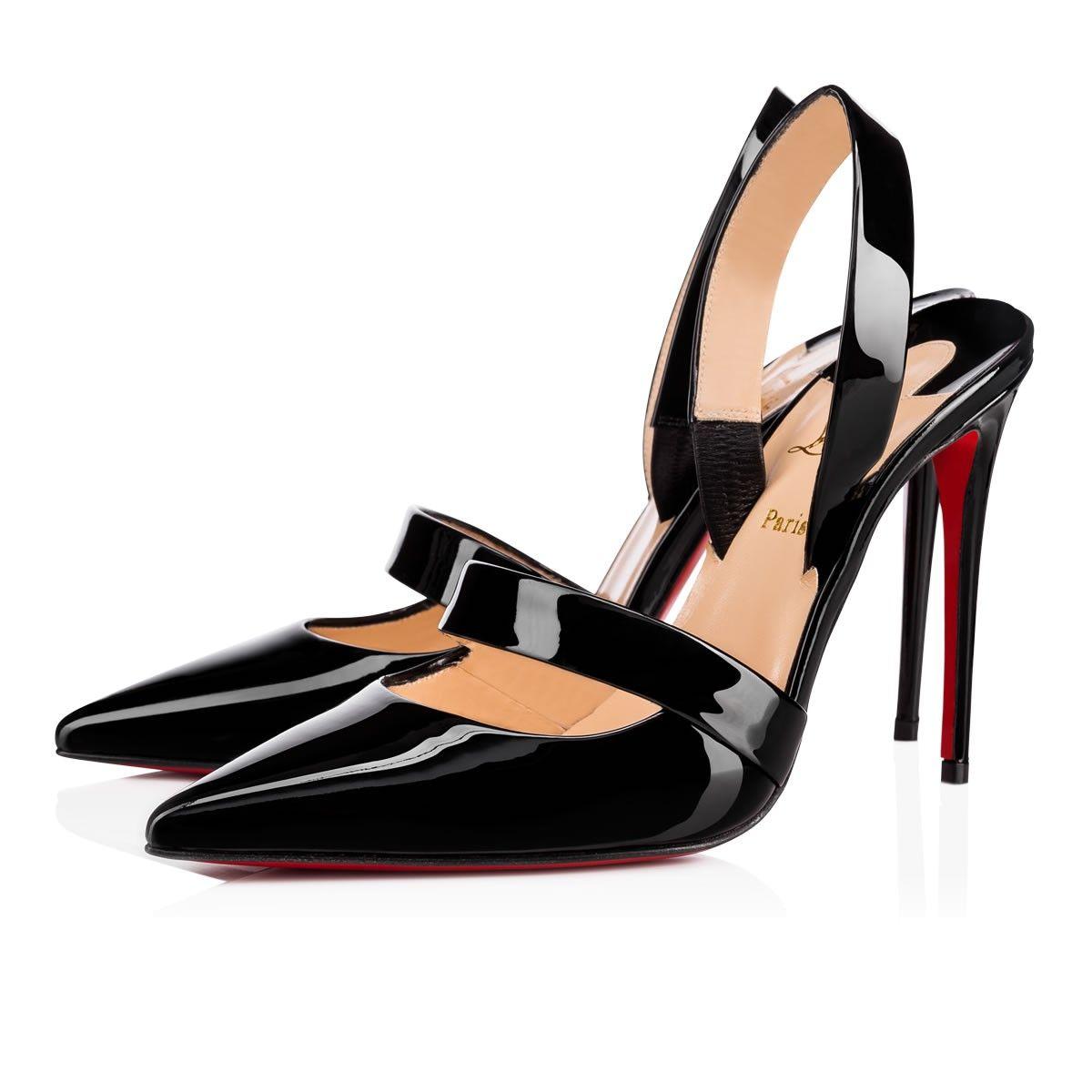 e7d2f26e4b62 Actina 100 Black Patent Leather - Women Shoes - Christian Louboutin ...