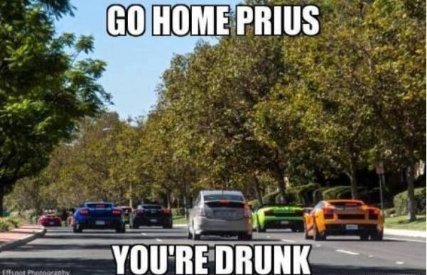 Trying To Hang Out With The Cool Kids Prius Jokes Funny Car Memes Car Humor