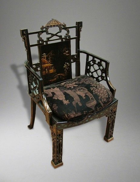 an armchair in the chinese chippendale manner ca1910 england