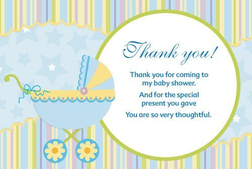 thank you cards for baby shower party  cardona baby shower, Baby shower invitation