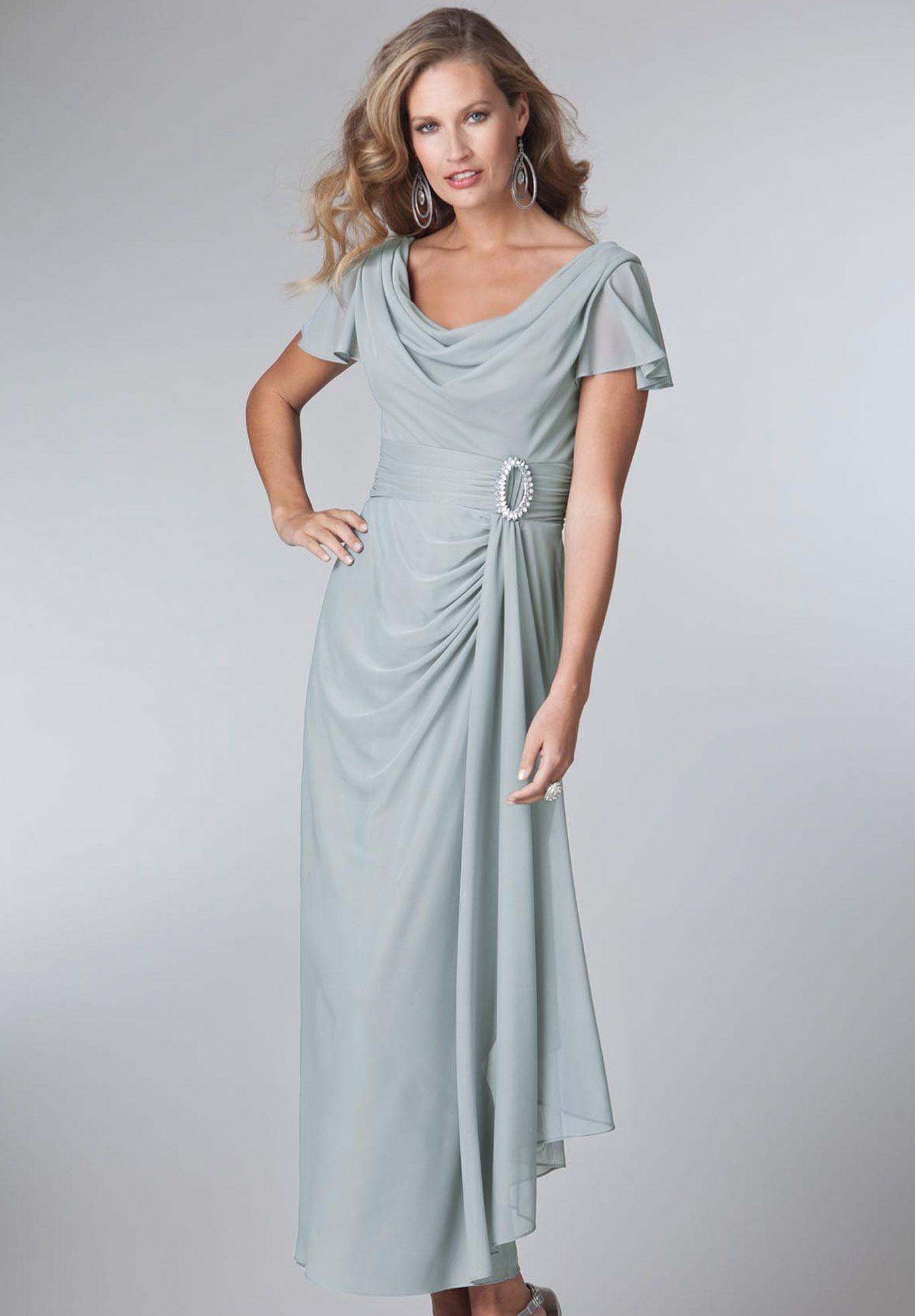 Plus Size Draped Jewel Empire Waist Gown   Plus Size Bride   Roamans ...