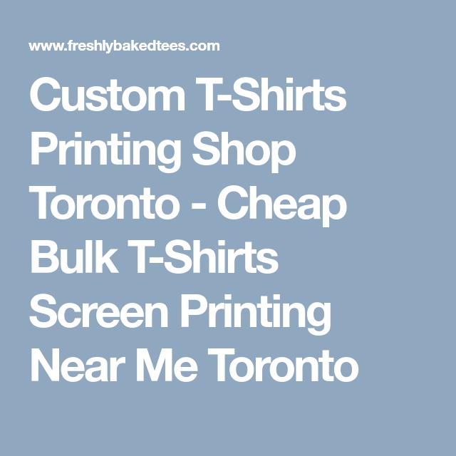 custom t-shirts printing shop toronto - cheap bulk t-shirts screen ...