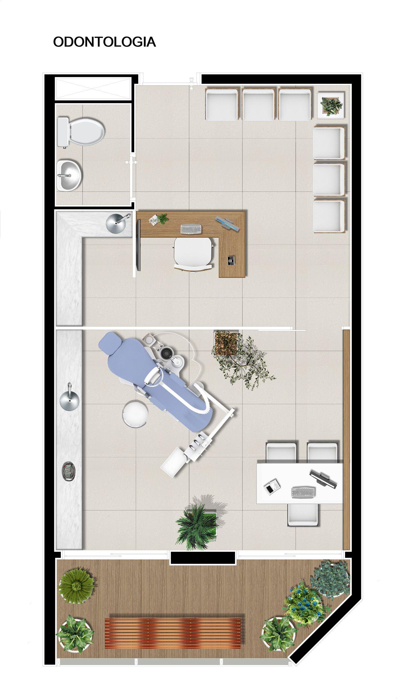 Planta consult rio m dico de 37m cl nicas inspira o for Espacios minimos arquitectura