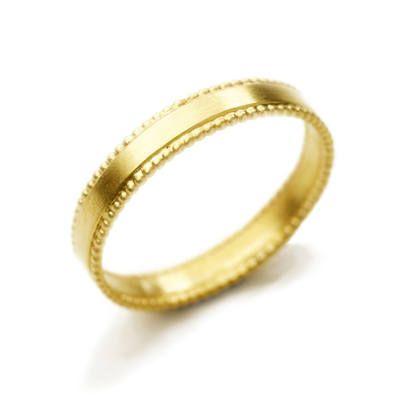 Alison Macleod Edwardian Style Wedding Ring With Double Dotty Edge