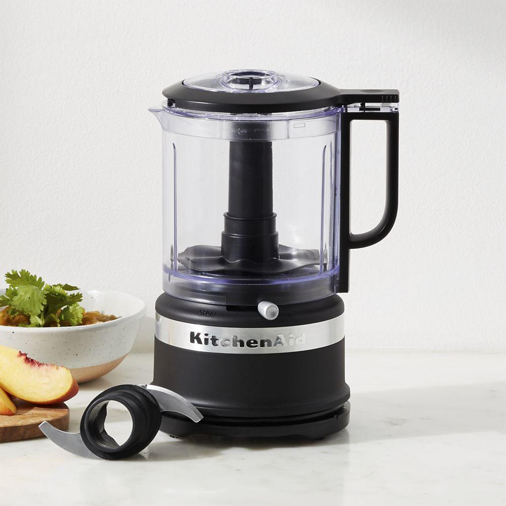 Kitchenaid Matte Black 5 Cup Mini Food Processor Reviews Crate
