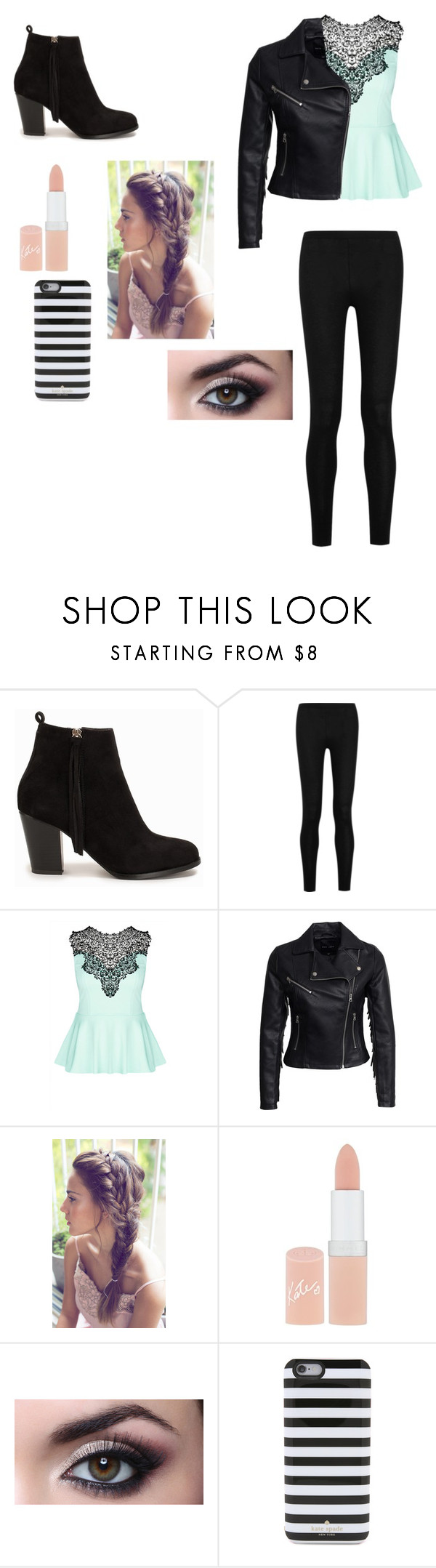 """""""Very chic"""" by chloe2234 ❤ liked on Polyvore featuring beauty, Nly Shoes, Donna Karan, City Chic, New Look, Rimmel and Kate Spade"""