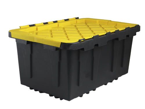 Centrex Plastics Tough Box 17 Gallon Black Storage Tote At Menards Plastic Storage Bins Hinged Lid Tote Storage