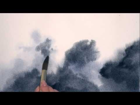 Painting Skies In Watercolour Moonlit Sky Youtube Videos De